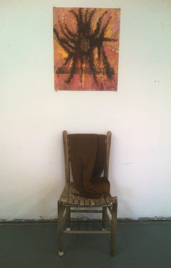 Chair and painting of hair installation